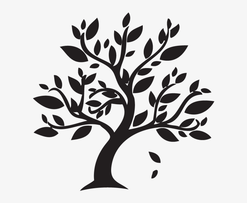 Branch Clipart Autumn Leaves - Black And White Tree ...