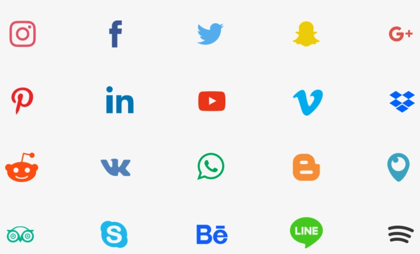 Instagram Facebook Icon Networks Linkedin Instagram And