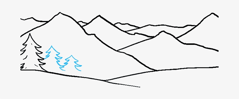 How To Draw Mountains Really Easy Drawing Tutorial Drawing