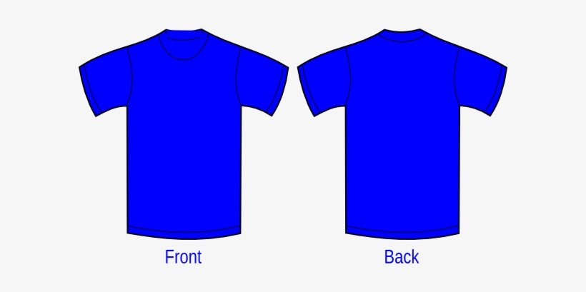 royal blue polo shirt front and back