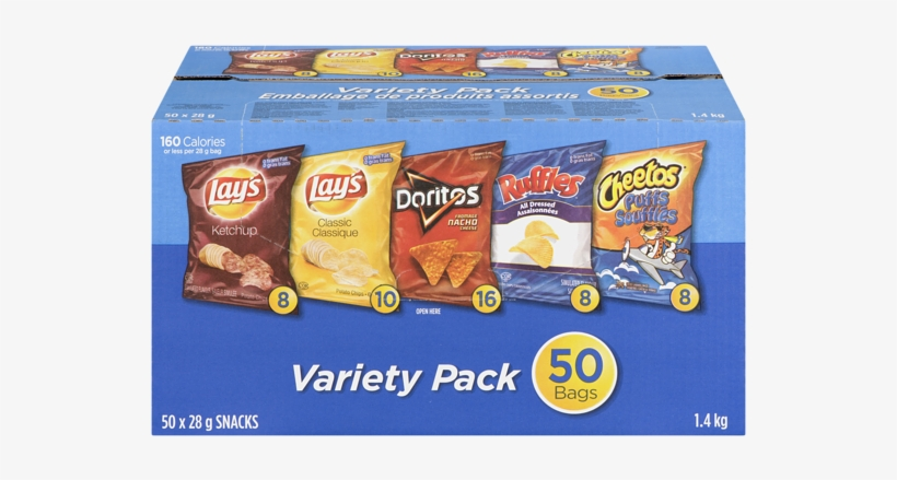 Costco Frito Lay Variety Pack Price Transparent PNG