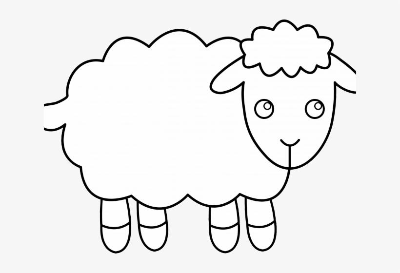 Cartoon Sheep Clipart تلوين خروف العيد Png Transparent Png