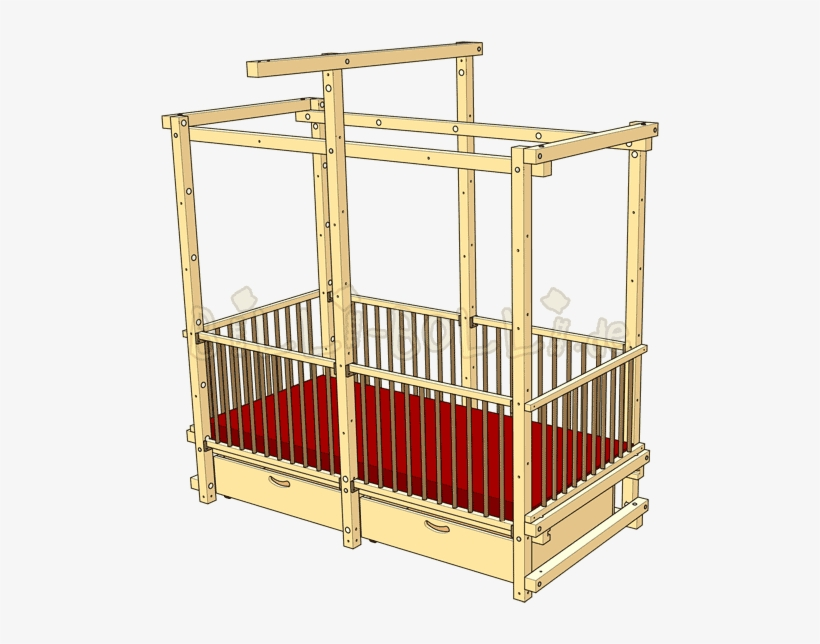 Baby Crib Bunk Bed Transparent Png 500x564 Free Download On