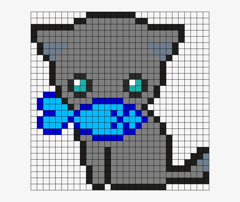 Cute Kitty Perler Bead Pattern Bead Sprite Pixel Art