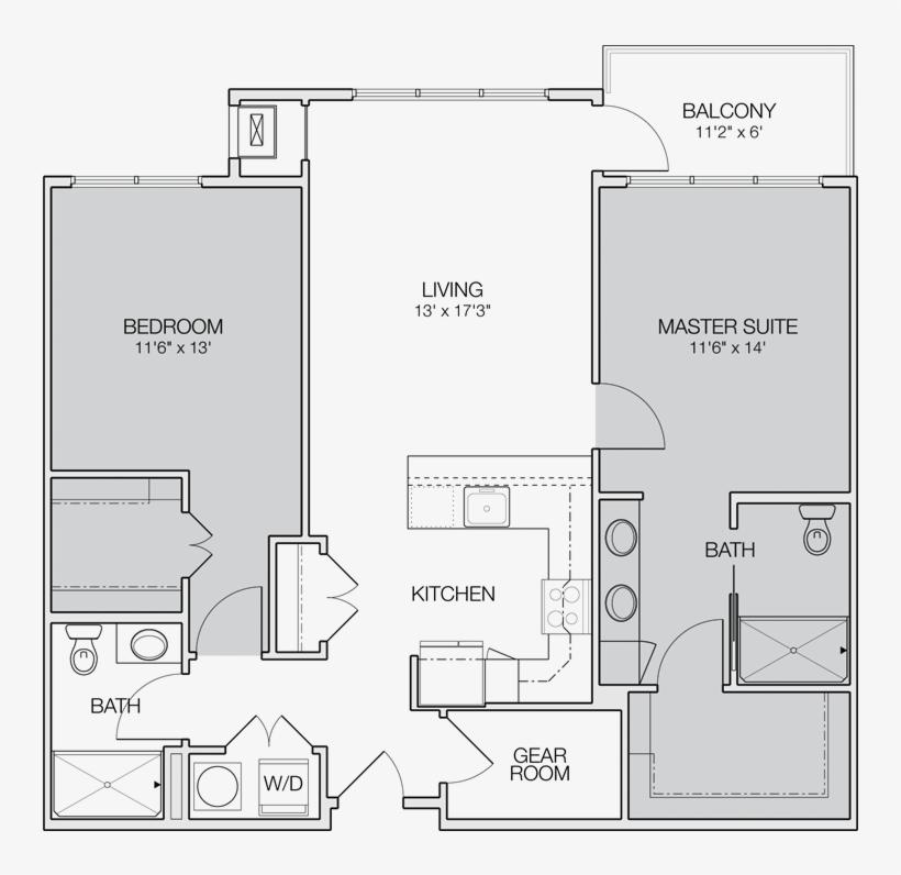 Floor Plan C 2 Bedroom Apartment Floor Plans Transparent Png 800x800 Free Download On Nicepng
