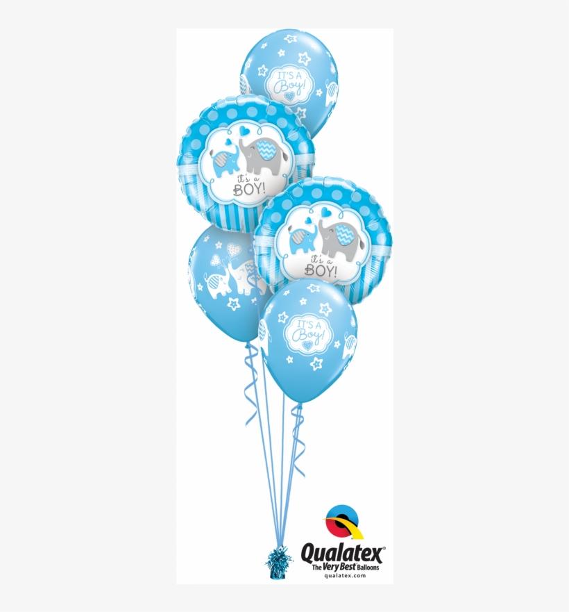 Boy Baby Shower Balloons Blue Footprint Balloons Baby Boy Footprint Balloon Bouquet New Baby Boy Balloons