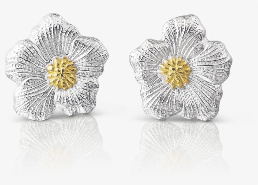 27f1ec7e4 Gardenia Large Button Earrings - Orecchini Argento Buccellati ...