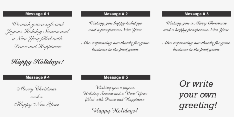 Christmas Card Messages Hy Holidays