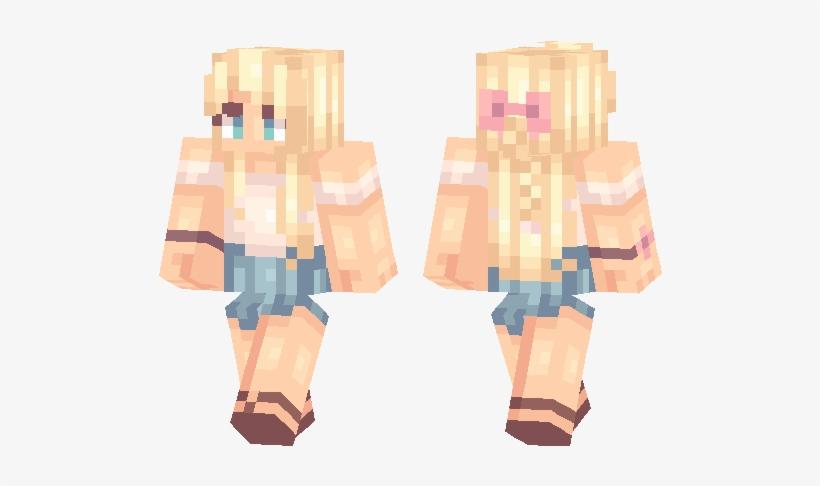 Blonde Girl Skin - Minecraft Blonde Girl Skin Transparent
