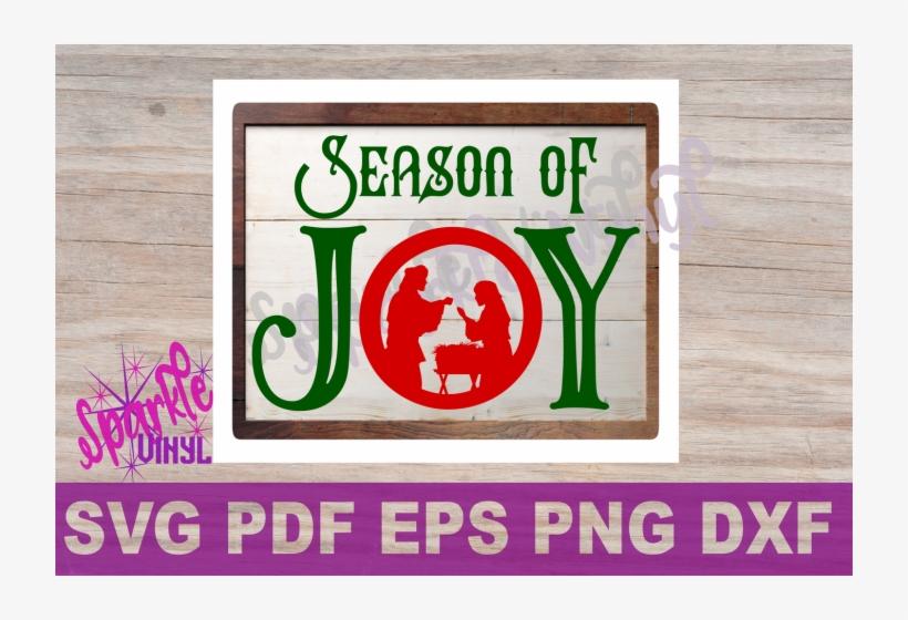 Svg Christmas Joy Nativity Sign Stencil Farmhouse Style - Scalable