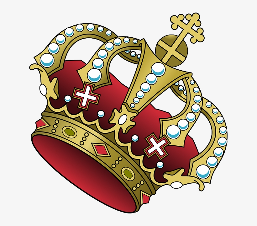 Crown tilted. Clipart royal blue and