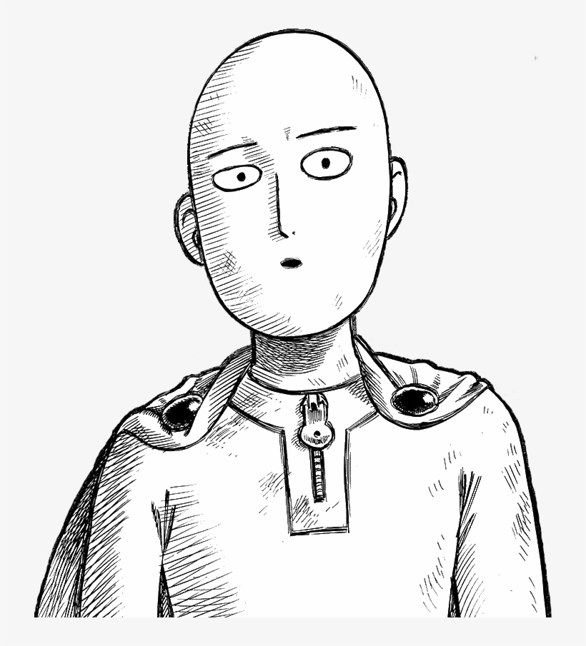Memes Easy To Draw Saitama One Punch Man Transparent Png 724x825