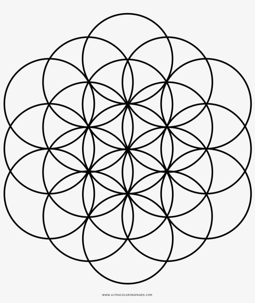 Flower Of Life Coloring Page - Flower Of Life Chakras ...