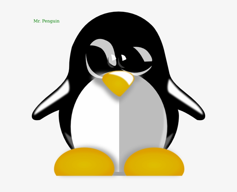 Penguins And Flowers Of The Winter Clip Art - Baby Penguin Clip Art - Png  Download (#5507982) - PikPng