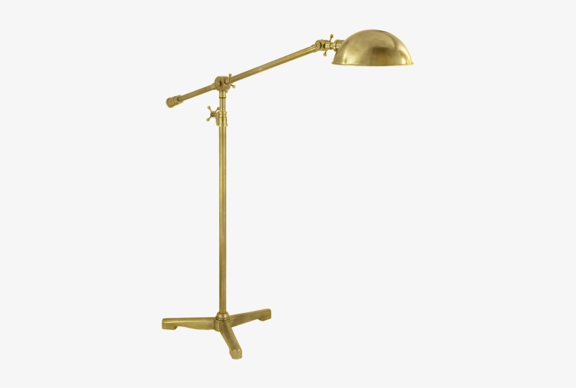 Studio Pivoting Task Floor Lamp In Hand, Antique Task Floor Lamp