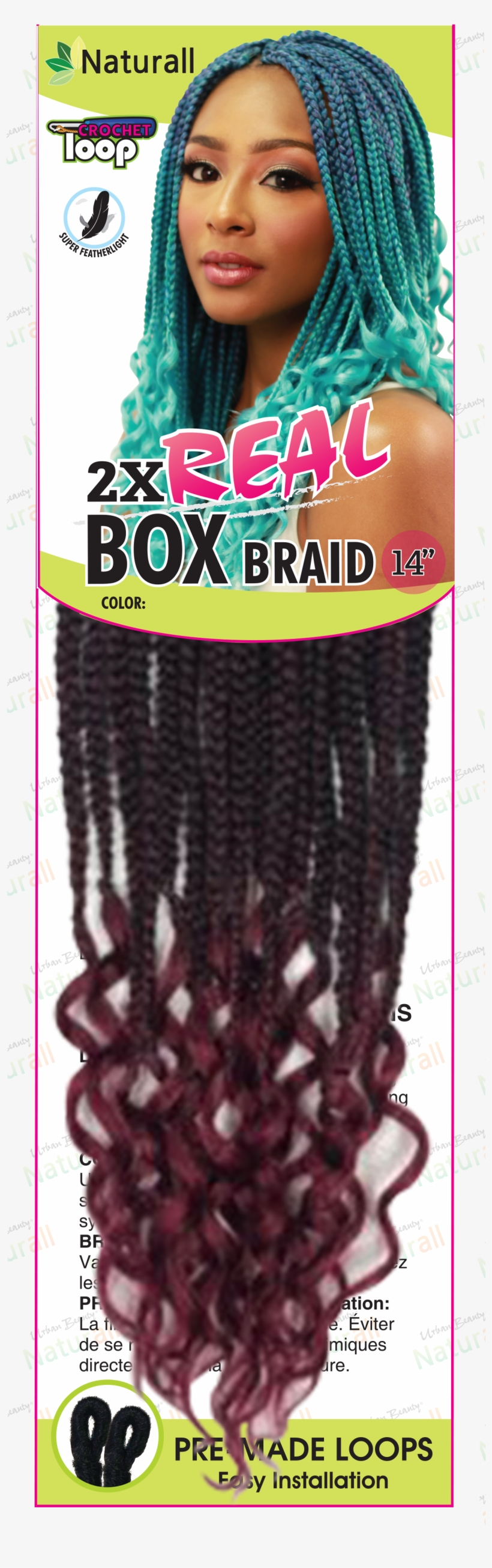 Urban Beauty 2x Real Box Braid Curl 14