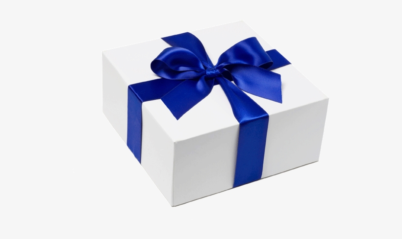 Birthday Present Transparent Background Blue And White Gift Png