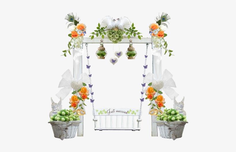 Wedding Swing Wedding Decorations Flowers Wedding Transparent Png