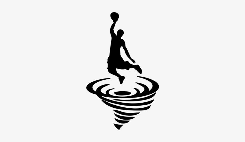 Basketball Clipart Tornado - Basketball Player Dunking