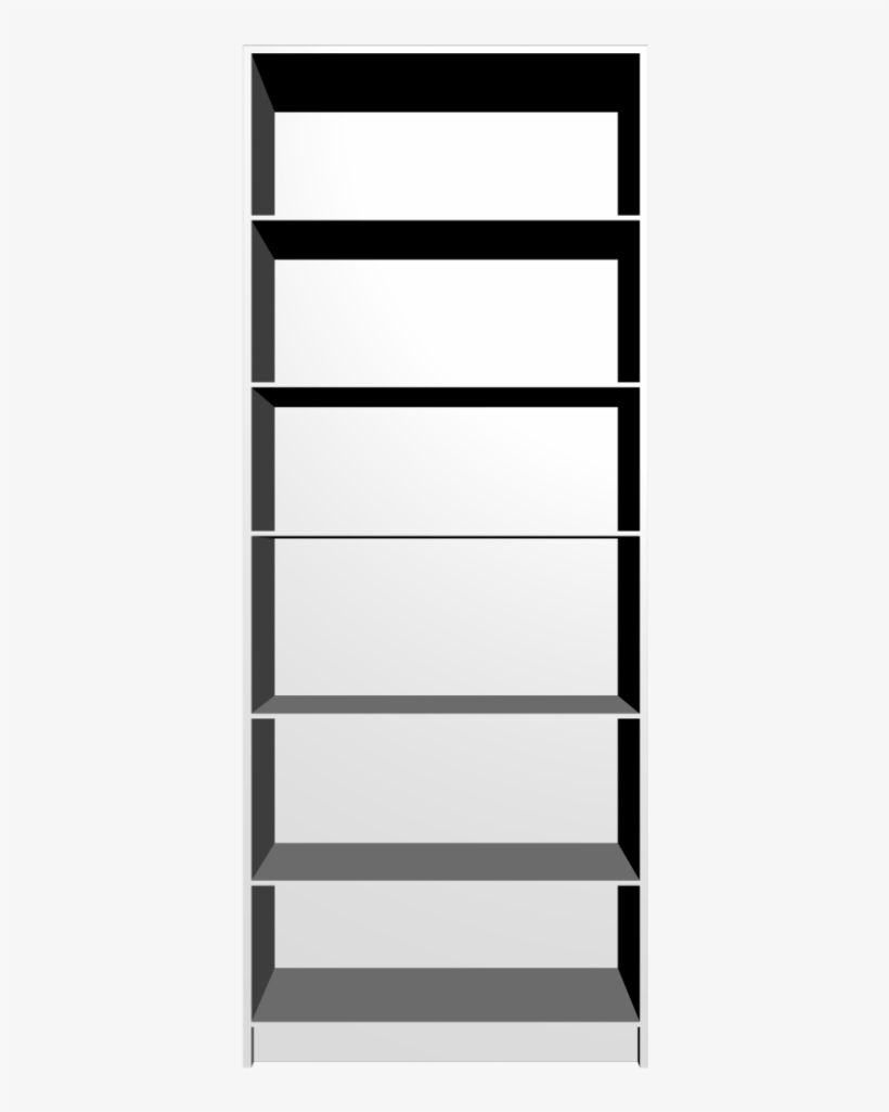 Empty Bookcases Polyvore Billy Bookcase Black And White