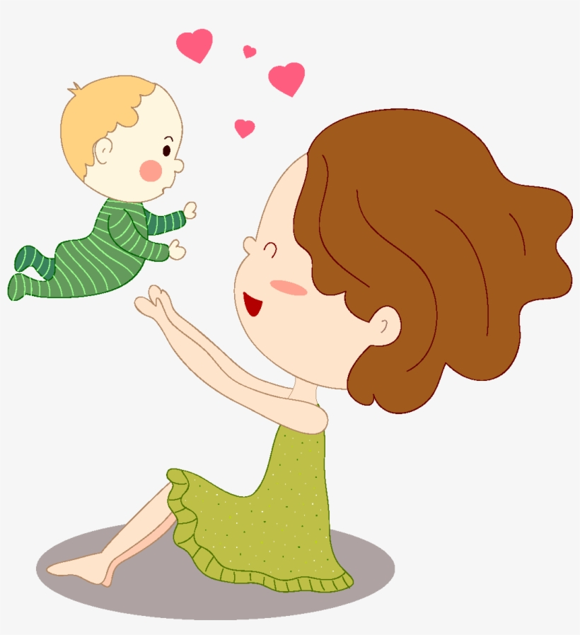 Cartoon Cute Mother And Child Parenthood Child Transparent Png 1772x1378 Free Download On Nicepng