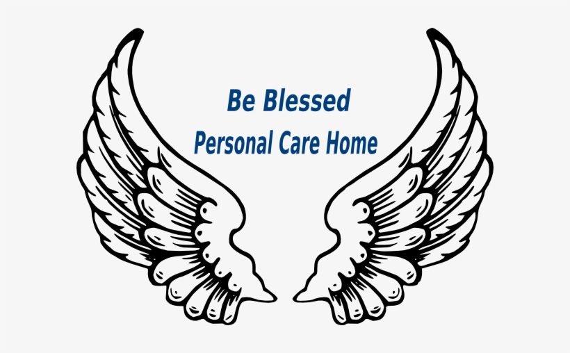 This Free Clipart Png Design Of Be Blessed Personal Angel Wings Outline Png Transparent Png 600x428 Free Download On Nicepng