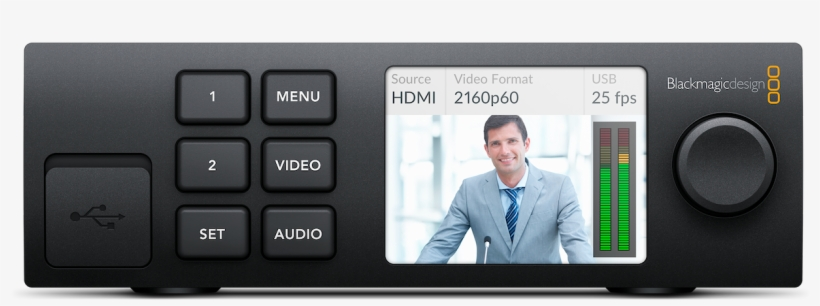 Shown With Optional Teranex Mini Smart Panel Blackmagic Design Ultrastudio Hd Mini Bmd Bdlkulsdminhd Transparent Png 1238x696 Free Download On Nicepng