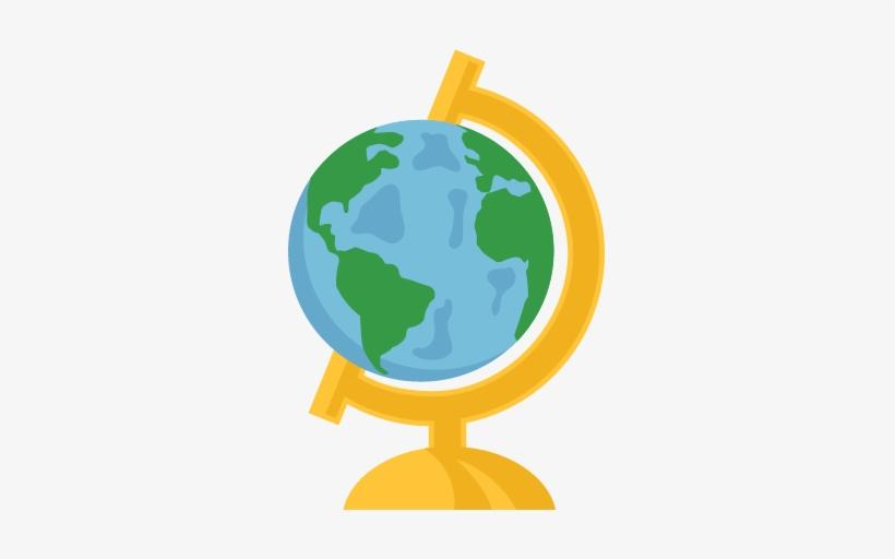 Globe cute. Svg scrapbook cut file