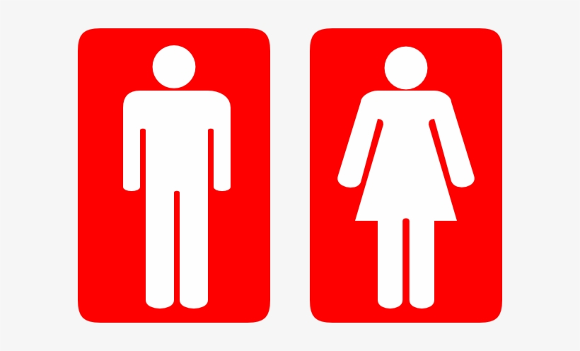 Toilet Clipart Gents Toilet - Toilet Sign Red