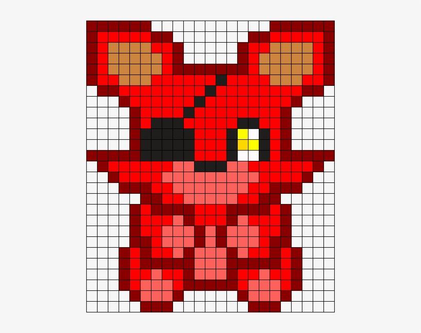 Foxy Plush Perler Bead Pattern / Bead Sprite Abalorios - Foxy Fnaf ...