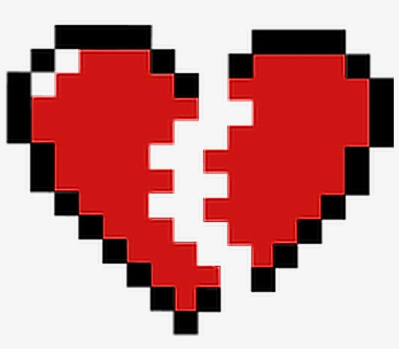 Broken Pixels: Red Pixelated Broken Heart Redheart Brokenheart Freetoe
