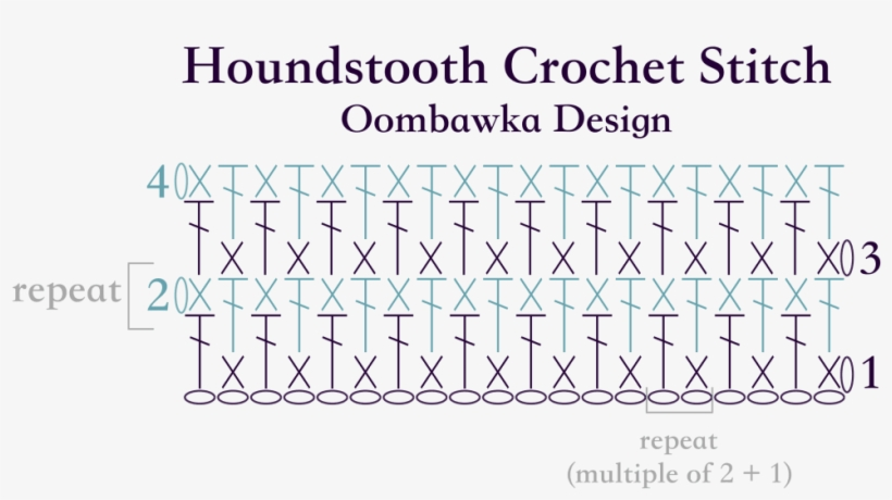 Houndstooth Crochet Stitch Diagram Oombawka Design Crochet Stitch