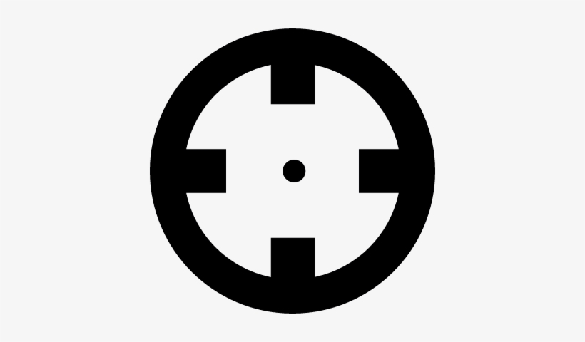 Crosshair Vector - Start Icon Free Transparent PNG - 400x400