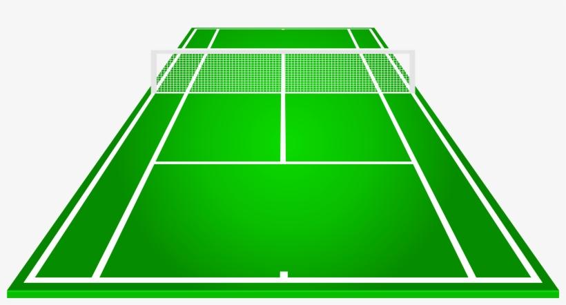 Tennis Court Png Clipart - Pista De Tenis Dibujo Transparent PNG - 5000x2452 - Free Download on NicePNG