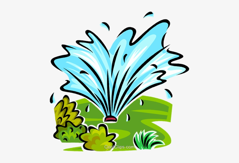 Water Sprinkler Royalty Free Vector Clip Art Illustration