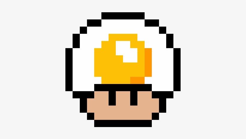 Mushroom De Huevo Frito Dessin Pixel Mario Champignon