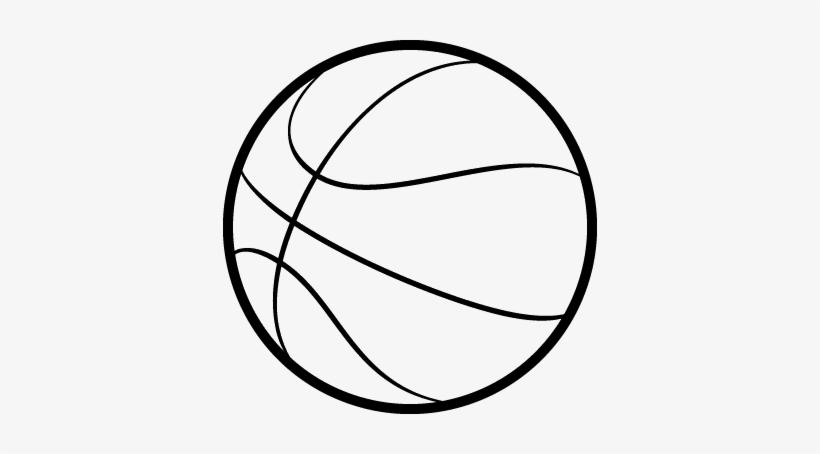 db2e6f1522 Basketball Outline - Balon De Basquet Dibujo Transparent PNG ...