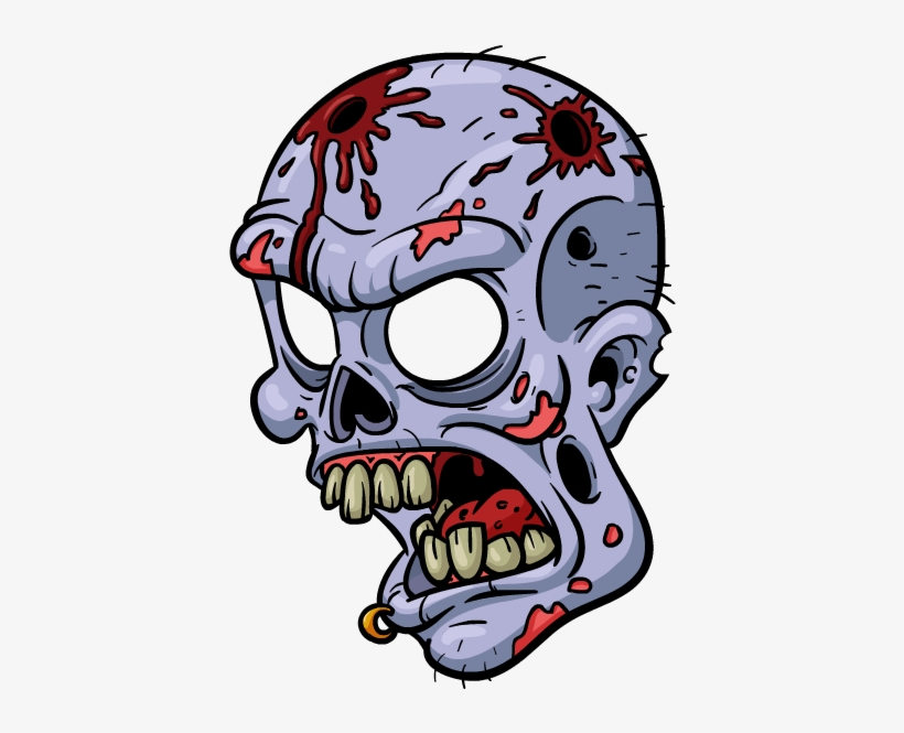 Zombie Stickers Messages Sticker-6 - Cartoon Zombie Face ...
