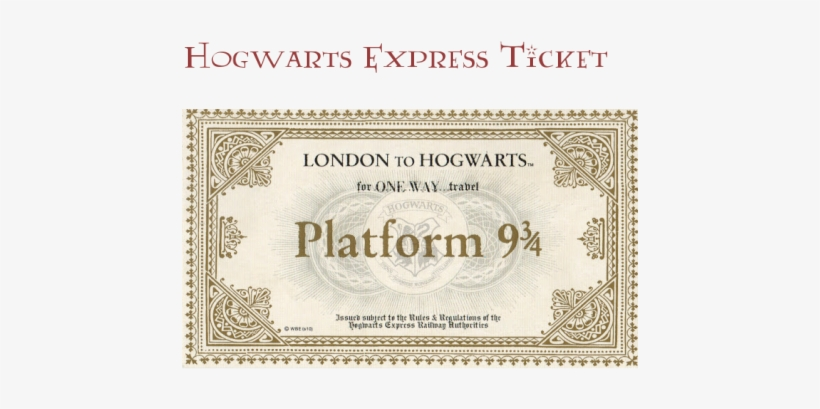 photograph about Hogwarts Express Ticket Printable referred to as System 9 3 4 ticket template