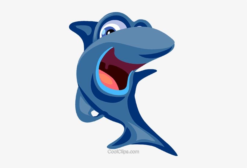 Cartoon Shark Royalty Free Vector Clip Art Illustration Desenho