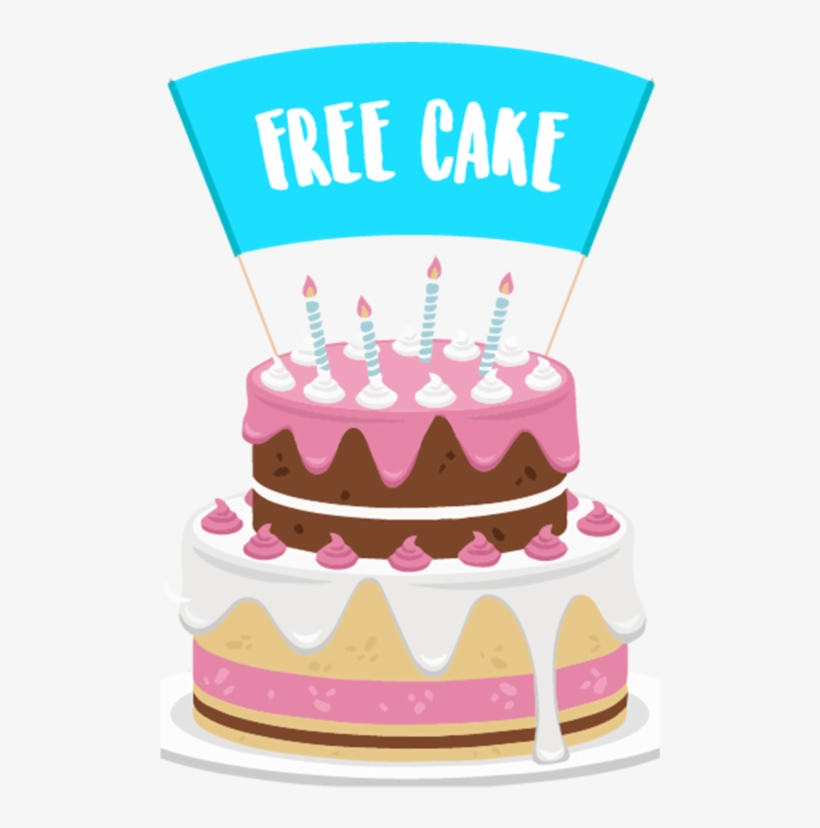 Cool Free Cake Vector Birthday Cake Png Transparent Png 500X846 Funny Birthday Cards Online Elaedamsfinfo