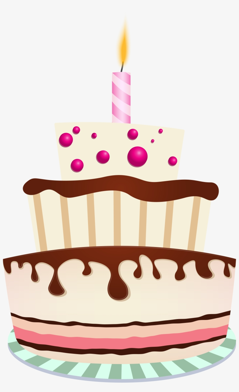Graphic Royalty Free Stock Birthday Cake With Lots
