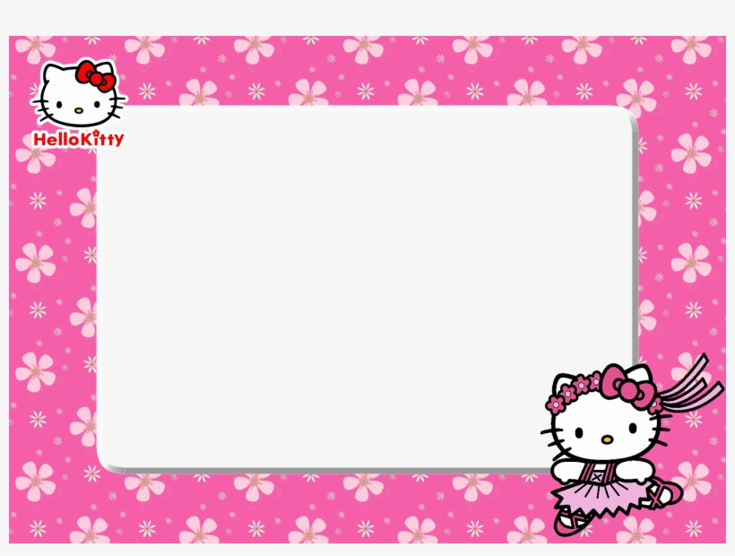 5b365759121e8 Download Free Printable Hello Kitty Pink Floral Png - Barbie Frame ...