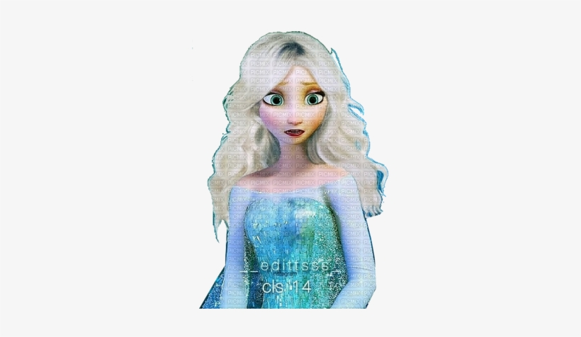Elsa Hair Down Frozen Elsa Hair Down Transparent Png 327x400