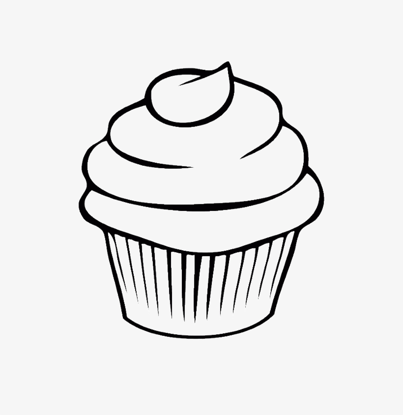 - Cupcake Art Watercolor Painting - Cupcake Coloring Pages Transparent PNG -  600x764 - Free Download On NicePNG