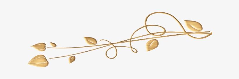 Lineas Decorativas Doradas Png Transparent PNG