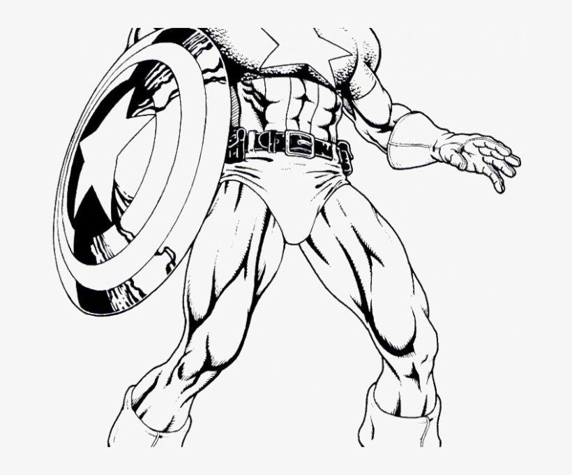 Captain America Coloring The Captain Americas Confusion - Color Book Captain  America Transparent PNG - 678x600 - Free Download On NicePNG