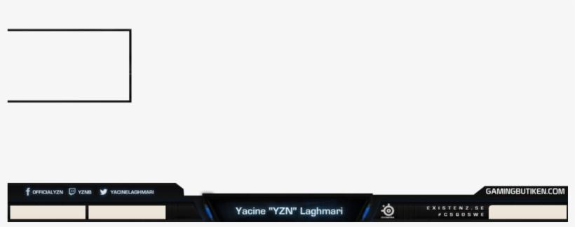 Blank Twitch Webcam Overlay - Sci Fi Twitch Overlay