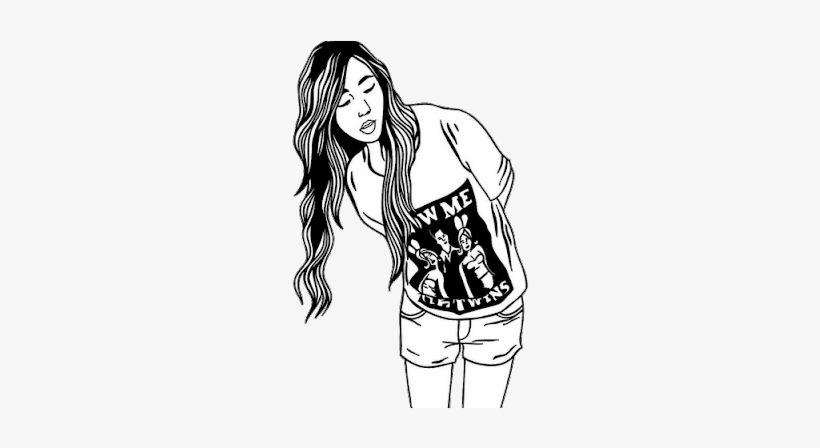 Brushes Hipster Vintage Girl Drawing Tumblr Png - Drawing ...