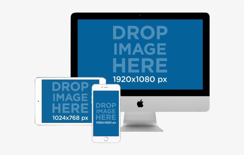 Imac Ipad Png Download Mockup Imac Ipad Iphone Transparent Png